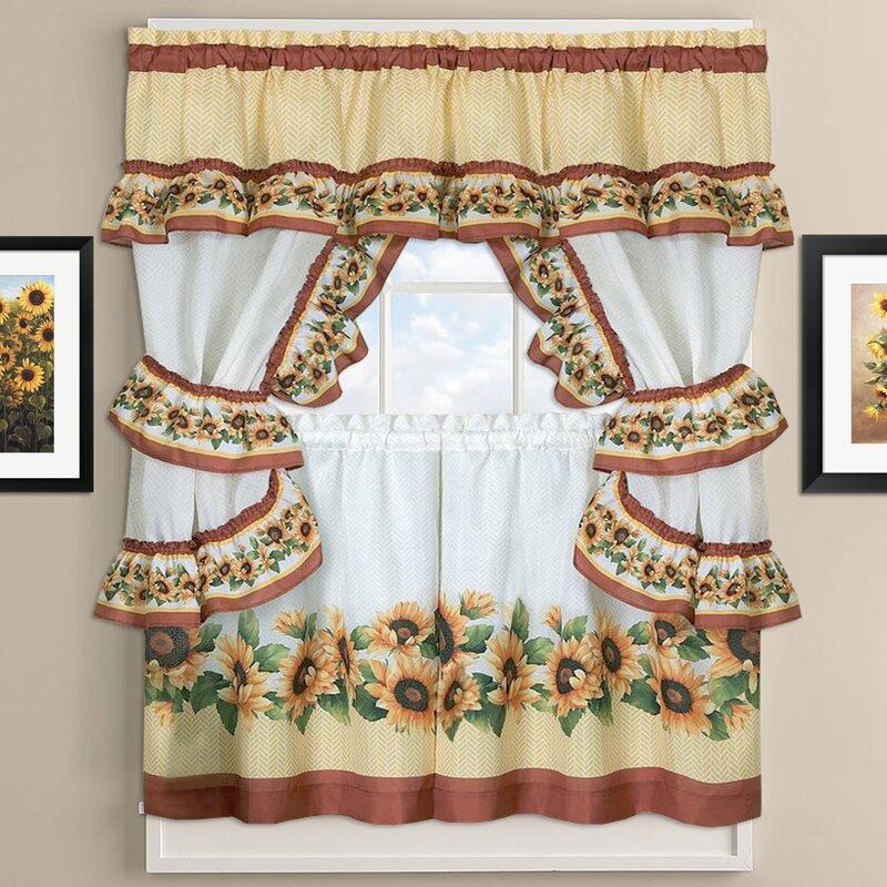Superior Sunflower Cottage Kitchen Curtains