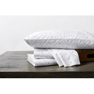 Bargain Scattered Sky Printed Fitted Crib Sheet ByCoyuchi