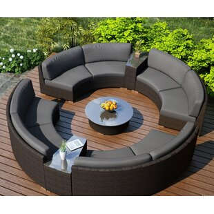 Hodge 7 Piece Sofa Seating Group with Sunbrella Cushions
