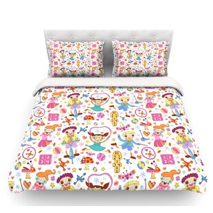 Vintage Playground IIII by Jane Smith Featherweight Duvet Cover