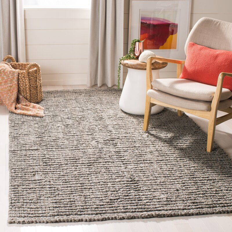 Jeremy Handmade Flatweave Jute Sisal Light Gray Area Rug Reviews Allmodern