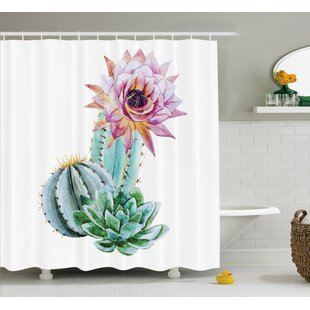 Harkness Cactus Spikes Flower Shower Curtain By Bungalow Rose