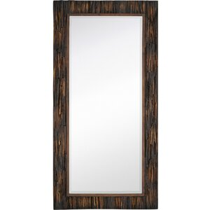 large scale rectangular natural wood framed mirror - Natural Wood Frames