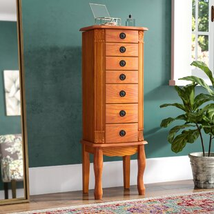 Alcott Hill Stroudsburg Jewelry Armoire with Mirror