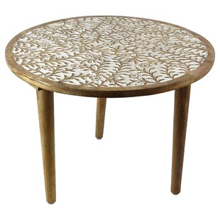 Tyann Round Wooden End Table
