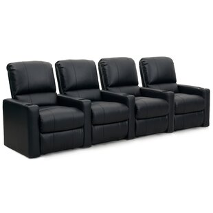 Contemporary Home Theatre Lounger (Row of 4) by Latitude Run
