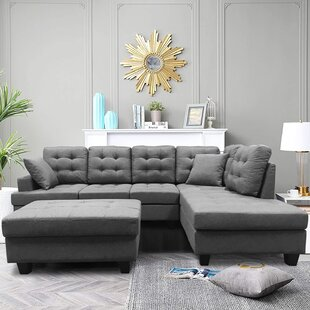 Adarryll 102 Right Hand Facing Sectional with Ottoman by Ebern Designs