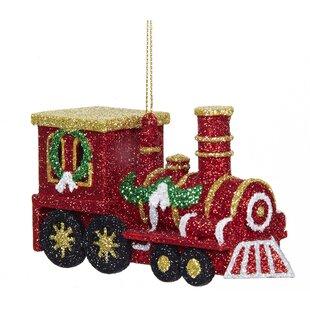plastic train ornament