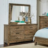 Burleigh 6 Drawer Double Dresser with Mirror by Loon Peak®