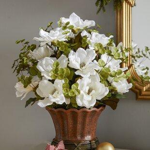 Magnolia Centerpiece in Decorative Vase