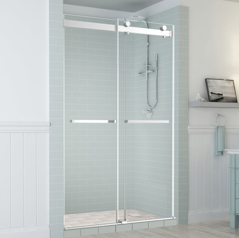 sliding glass shower doors. Rivage Double-Bypass Sliding Frameless Shower Door Glass Doors