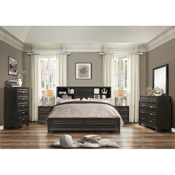 Blasco Wood 6 Piece Bedroom Set