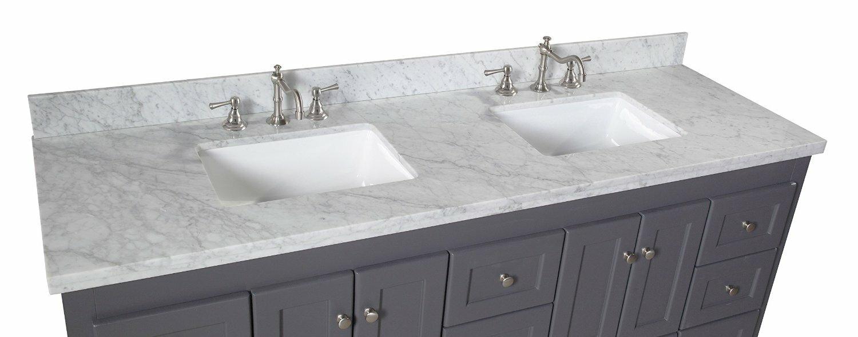 "Bathroom Vanities East Brunswick Nj abbey 72"" double bathroom vanity set & reviews | joss & main"