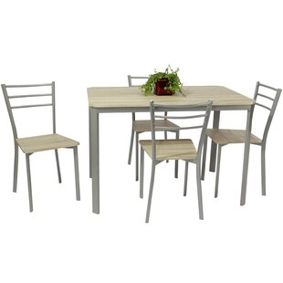 Kishmore Dining Set With 4 Chairs By 17 Stories