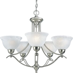 Red Barrel Studio Ronetta Traditional 5-Light Shaded Chandelier