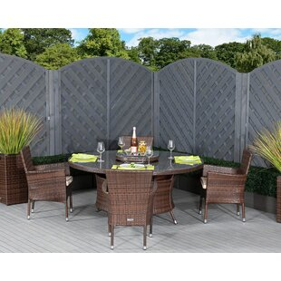 Escobar 4 Seater Dining Set With Cushions By Sol 72 Outdoor
