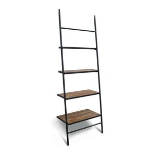 Burkholder Wood Leaning Ladder Bookcase