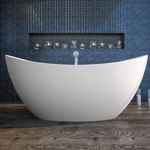 two person freestanding tub. Purescape 72  x 39 25 Freestanding Soaking Bathtub Two Person Tub Wayfair