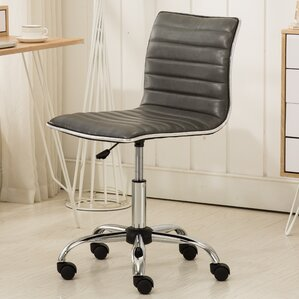 Shrum Chrome Adjustable Air Lift Office Mid Back Desk Chair