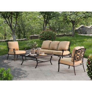 Jaycee 4 Piece Sofa Seating Group with Cushions by Alcott Hill