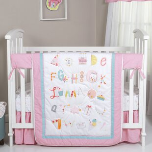 Great choice Grigor Alphabet Cake 4 Piece Crib Bedding Set ByHarriet Bee