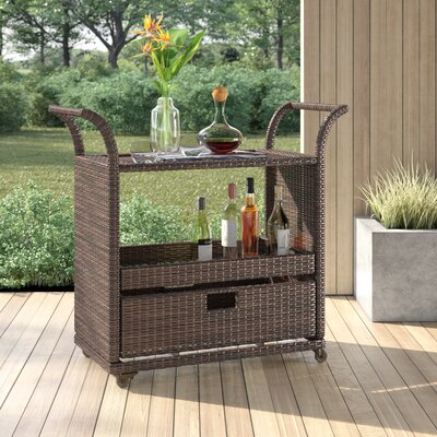 Moody Bar Serving Cart by Mercury Row Coupon