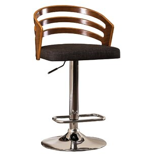 Pacific Adjustable Height Swivel Bar Stool by Wrought Studio