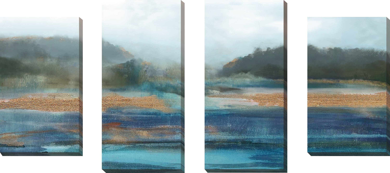Highland Dunes Cold Spring Morning I Acrylic Painting Print Multi Piece