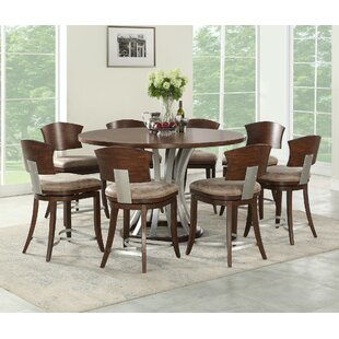 Wendelgard 9 Piece Counter Height Dining Set