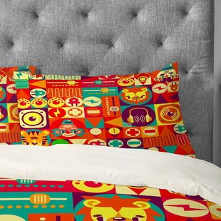 Chobopop Electro Circus Pillowcase