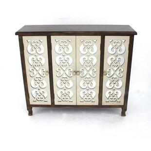 Carrasquillo Wooden 4 Door Accent Cabinet by House of Hampton