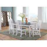 Brussels 7 Piece Extendable Solid Wood Dining Set by August Grove®