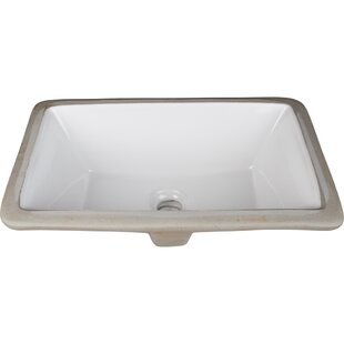 Hardware Resources Ceramic Rectangular Undermount Bathroom Sink