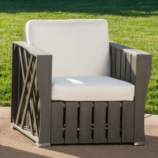 Gracie Oaks Yarger Patio Chair with Cushi..