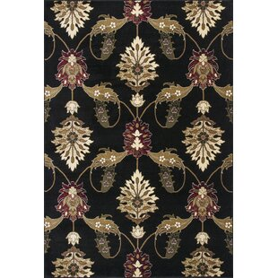 Price comparison Greenfield Black Area Rug ByCharlton Home