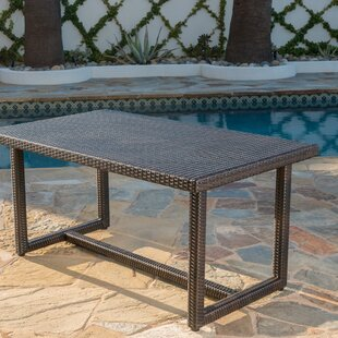 Guzik Outdoor Wicker Dining Table
