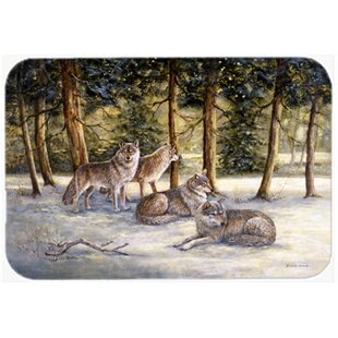 Wolves Glass Cutting Board