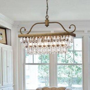 House of Hampton Gerhart 4-Light Crystal Chandelier