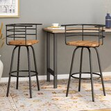 Noelia Industrial Modern 29 Swivel Bar Stool (Set of 2) by 17 Stories