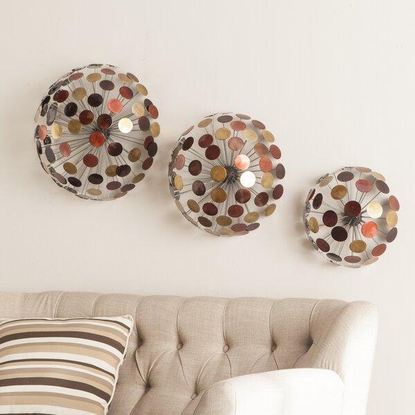 Wildon Home ® Jarvis 3 Piece Metal Sphere Sculpture Wall Décor Set U0026  Reviews | Wayfair
