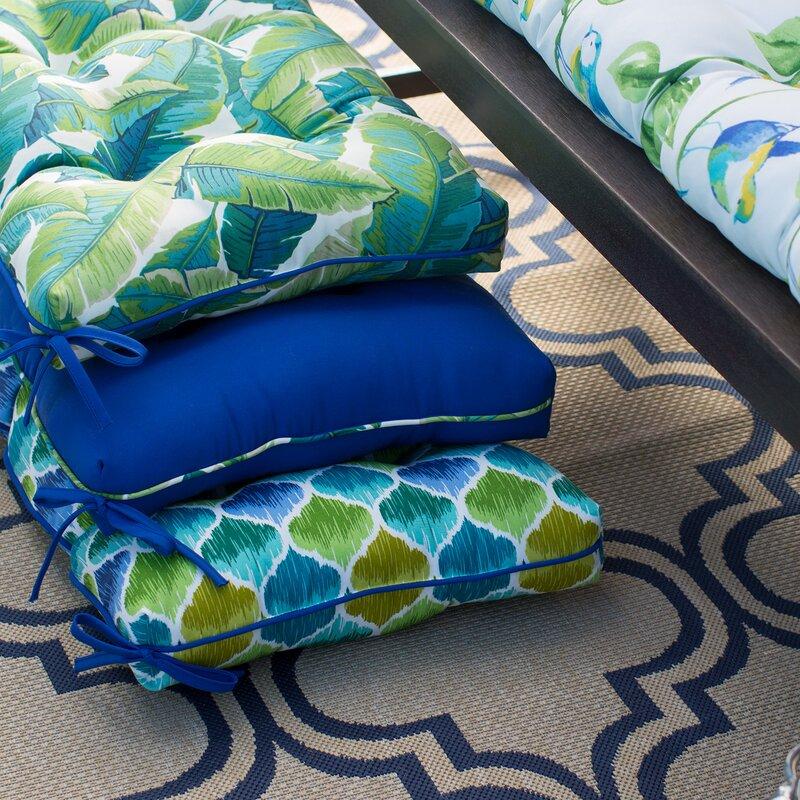 Bay Isle Home Cheryl Balmoral Tropical Opal Outdoor Bench Cushion Wayfair