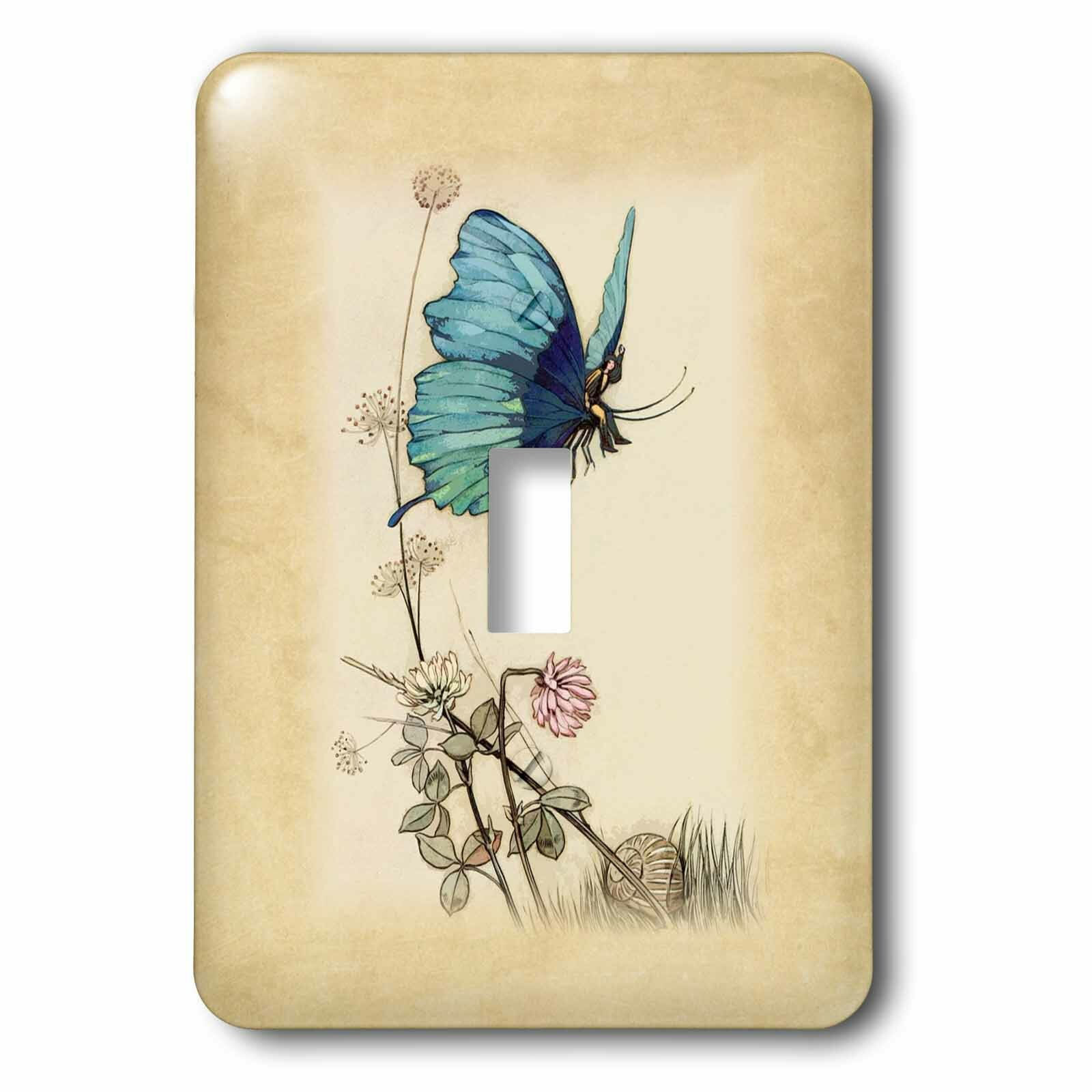 3drose Butterfly Girl And Flowers 1 Gang Toggle Light Switch Wall Plate Wayfair