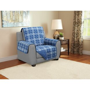 Giannini Plaid Furniture Protector Armchair Slipcover By Charlton Home