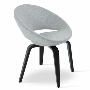 sohoConcept Crescent Plywood Leatherette Upholstered Dining Chair