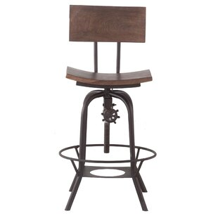 Mott Street Adjustable Swivel Bar Stool by Williston Forge