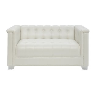 Inexpensive Surakarta Chesterfield Loveseat by Wade Logan Reviews (2019) & Buyer's Guide