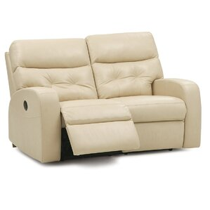 Southgate Leather Reclining Loveseat by Pall..