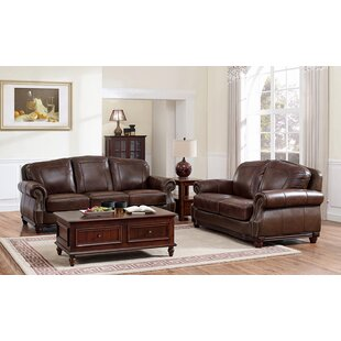 Inexpensive Rude Leather 2 Piece Living Room Set by Canora Grey Reviews (2019) & Buyer's Guide