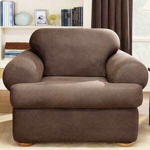 Stretch Leather T Cushion Armchair Slipcover
