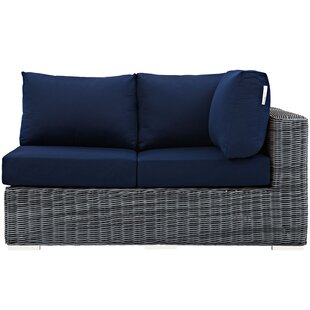 Keiran Left Arm Loveseat Sectional Piece With Cushions by Brayden Studio Purchase